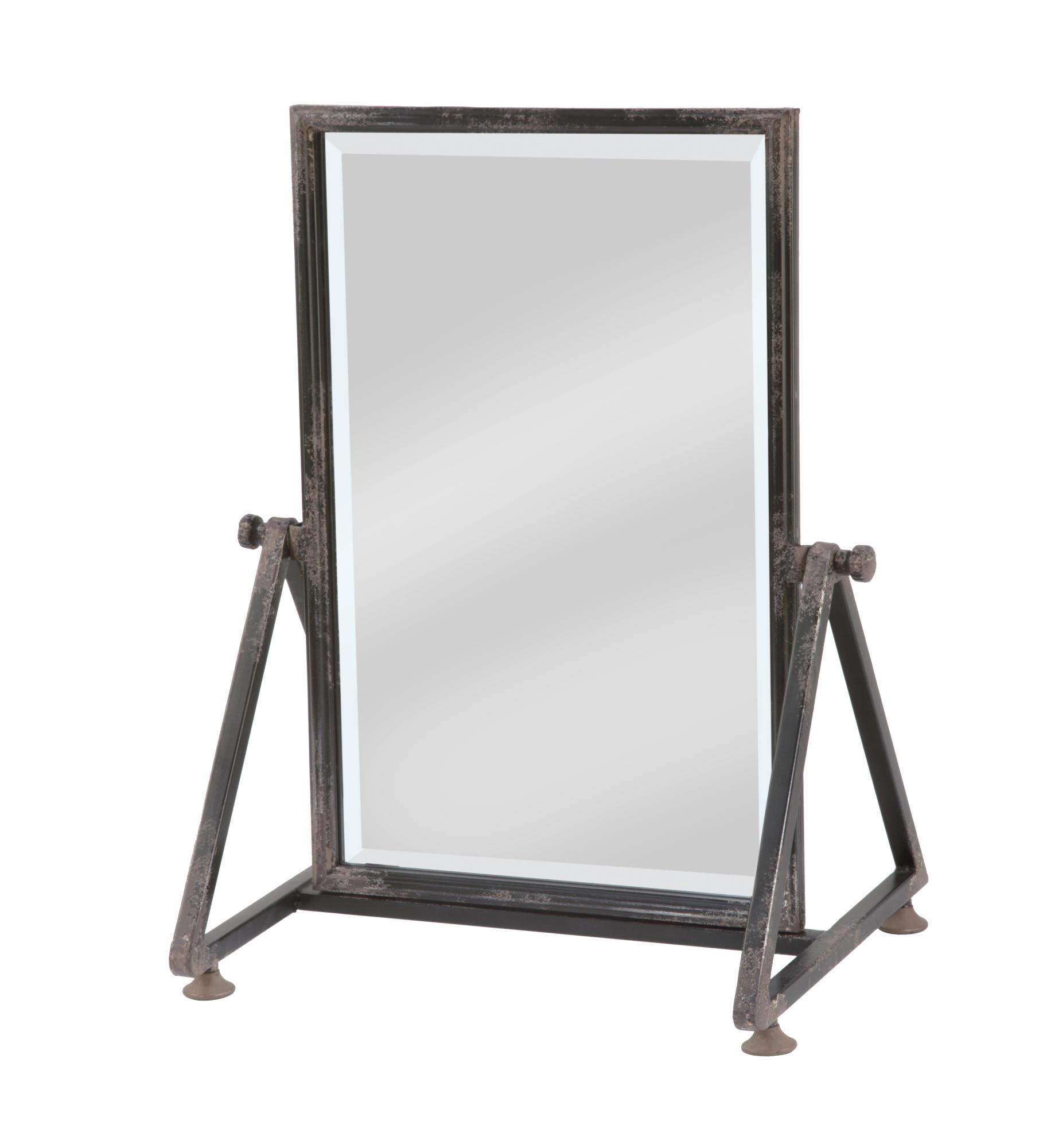 Large Metal Frame Tabletop Floor Mirror Tripar